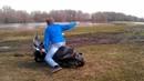 Игорь упал с мопеда