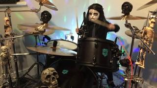Vermilion- Slipknot- Drum Cover ~ Halloween part 3. Caleb H age 6 🎃