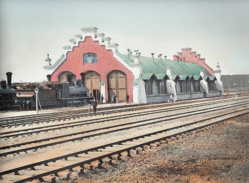 Первозданная железнодорожная Россия в цвете эпохи царской Империи глазами неизвестного фотографа, изображение №12