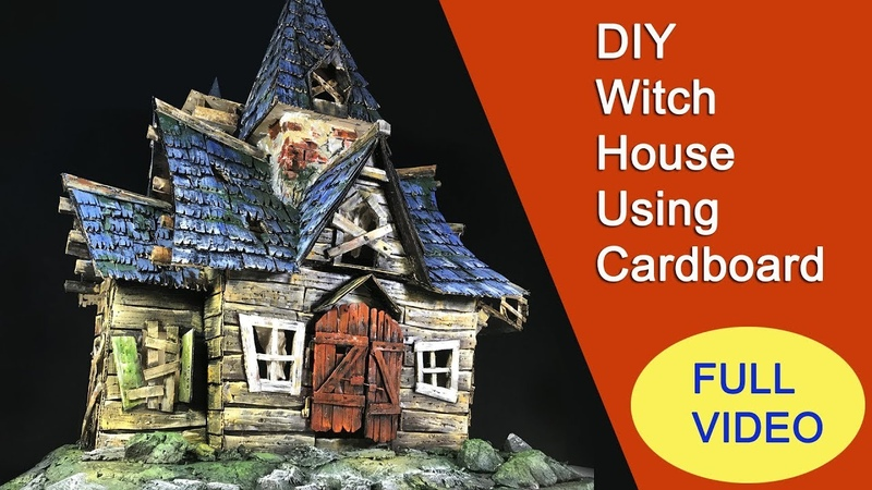 DIY A Witch's House Using Cardboard - Full Length Video