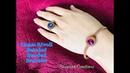 Bezeled 12mm Rivoli Bracelet || Peyote Stitch