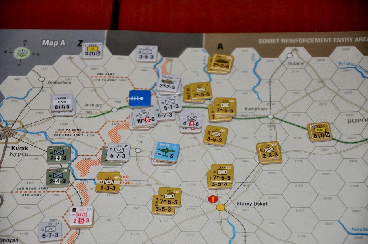 Советские войска попытались контрударами остановить прорыв, но немцы выдержали удар