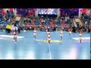 Танец с обручем от черлидеров Lucky Demons Cheerleaders на Финале Кубка 4 по гандболу