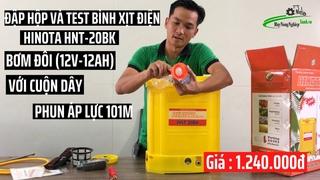[Test] Bình xịt điện 2 bơm (đôi) 20 Lít 12AH-12V HINOTA HNT-20BK Vàng |Giá |