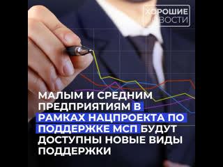 Малым и средним предприятиям России в рамках нацпроекта по поддержке МСП будут доступны новые виды поддержки