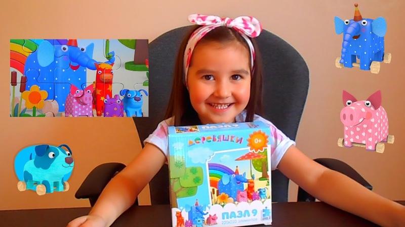 Деревяшки Ду Ду и друзья Собираем пазлы для малышей Safiya Show for Kids