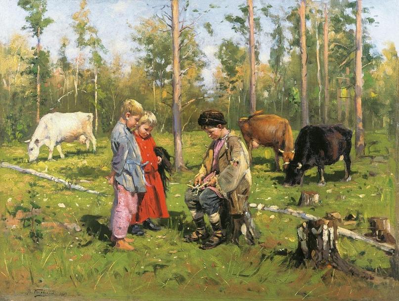 Мальчик Вася был из крестьянского рода. А в старину все крестьяне христианами бы...