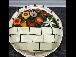Салат цветочная корзина яркий,красочный,нарядный