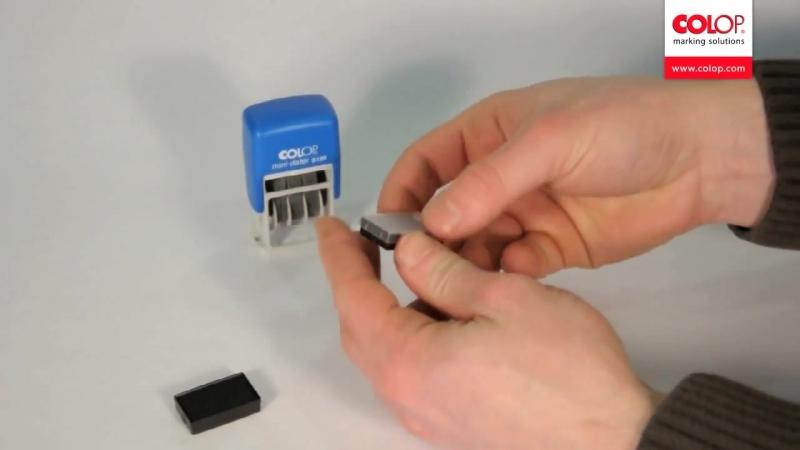 COLOP S120 Mini Dater Мини Датер Замена подушки E 10