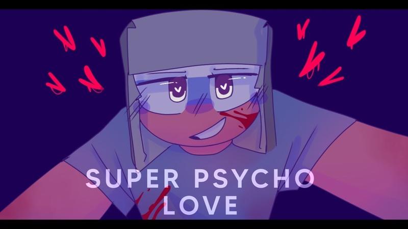 Super Psycho Love meme Countryhumans RusAme AU gift (tw : blood)