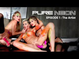 1 Subil Arch, Tiffany Tatum, Nancy Ace / Чистый Неон [2020, All Girl, Lesbian, 18+ Teens, Hardcore, Anal, Orgy, HD 1080p]