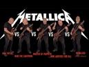 The Ultimate Metallica Guitar Riffs Battle (Full First Five Albums)