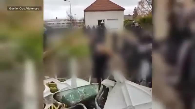 KRAWALLE IN FRANKREICH- So knallhart greift die Polizei durch