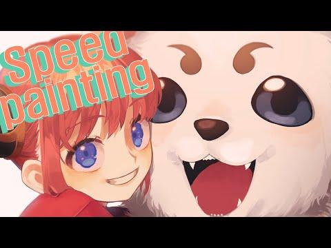 은혼 카구라 사다하루 스피드페인팅 Gintama Kagura Sadaharu Speedpainting