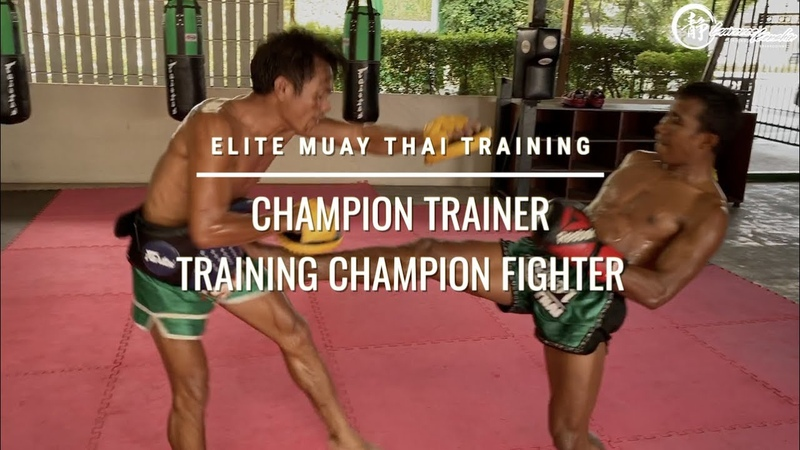 Elite Muay Thai Training Champion Trainer and Champion Fighter