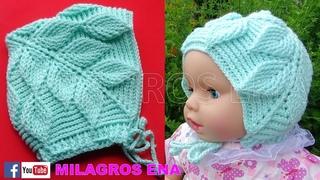 PARTE 2 Gorro a crochet HOJAS EN RELIEVES UNISEX para bebes PASO A PASO EN TUTORIAL