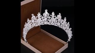 Роскошные серебряные стразы в стиле барокко, хрустальная корона, свадебные аксессуары для волос