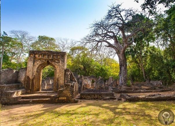 Неразгаданная тайна древнего города Геде Сегодня старинные развалины Геде популярный у туристов аттракцион в Кении. Людей привлекают загадочные остатки древних городов, будь то Помпеи, или
