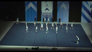 Cheerleading .Junior Cheer Coed Elite Sweden Gladiators.