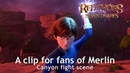 RED SHOES AND THE SEVEN DWARFS 2019 A clip for fans of Merlin ① Canyon fight scene HD