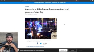 Trump Supporter Executed Walking Down The Street In Portland, BLM Celebrates And Cheers The Killing