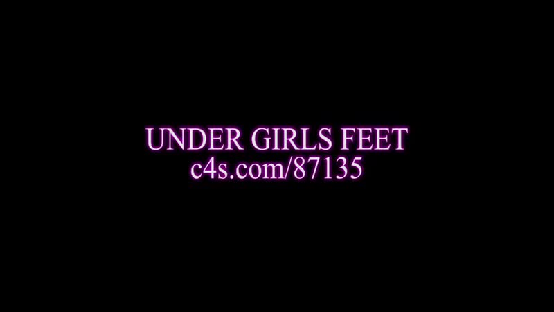 Under girls feet.high heels worship