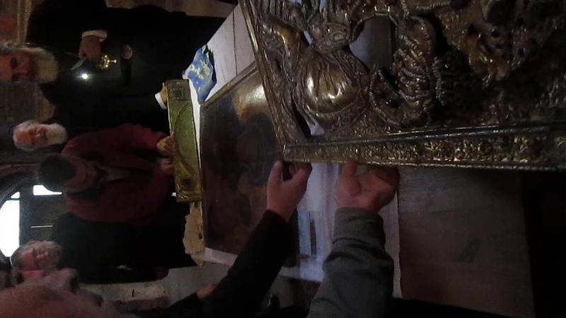 Тихвинская Икона Божией Матери Снятие ризы