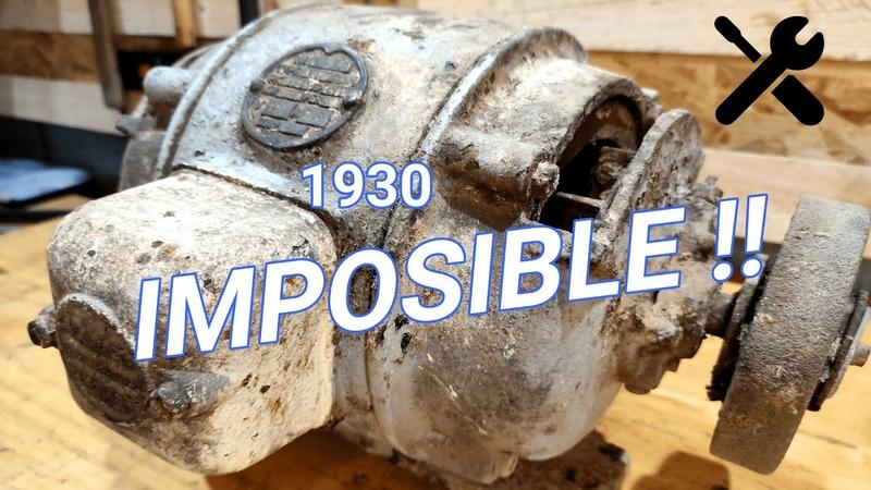 Motor eléctrico antiguo de 1930 RESTAURACION DE HERRAMIENTAS ANTIGUAS
