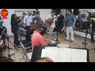 El Conjunto Clasico con Tito Nieves ensayan en Tempo Studios,antesala al Dia Nacional de la Salsa
