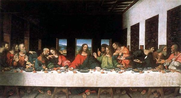 Тайная вечеря, 14951498 Когда Леонардо да Винчи писал «Тайную вечерю», он придавал особое значение двум фигурам: Христа и Иуды. Он очень долго не мог найти натурщиков, с которых можно было