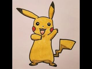 How to draw Pikachu   Pokémon go   Как нарисовать Пикачу   Рисунок (The work from Blueberry.)