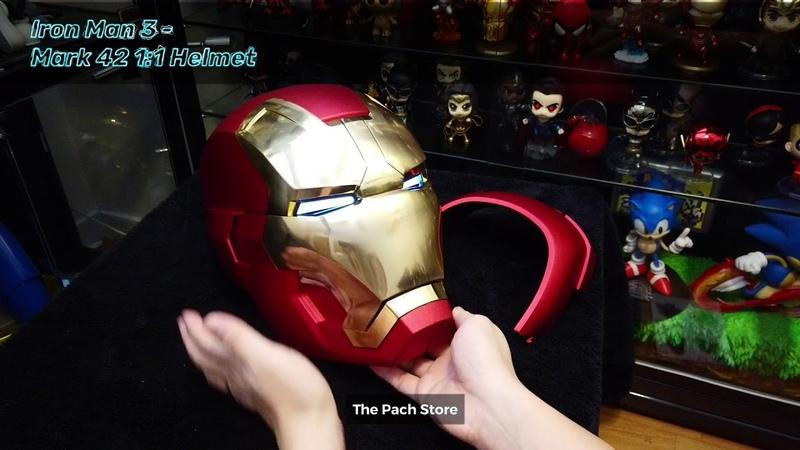 Marvel Licensed 1:1 Movie Replica Prop, Iron Man 3 - Iron Man Helmet Mark 42 x The Pach Store