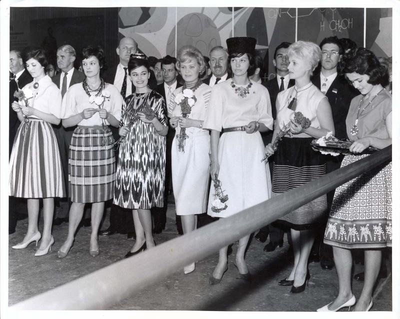 Советские манекенщицы в Лондоне, 1961 год.