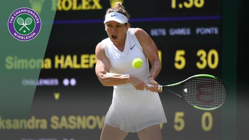 Simona Halep vs Aliaksandra Sasnovich Wimbledon 2019 first round highlights