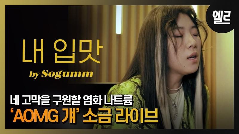 """실력으로 AOMG 입단! 노래 잘하는 염화 나트륨, 소금 """"내 입맛""""라이브 Sogumm's New song Live Interview [자막]"""