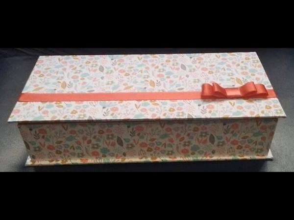 Como fazer caixa livro em cartonagem revestida com papel Aula parte única