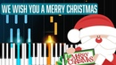 We Wish You A Merry Christmas Piano Tutorial - Chords - How To Play - Cover
