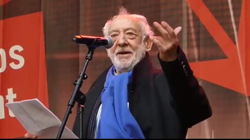 😍 WOW Dieter Hallervorden hält eine denkwürdige Rede auf der Alarmstufe Rot Demo am 28 10 2020 in Berlin 👍🏼👍🏼👍🏼