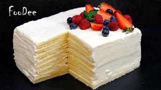 Торт Молочная девочка за 30 минут без возни с коржами