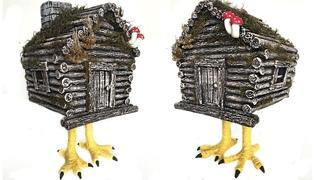 DIY Miniature Cardboard House of Baba Yaga | Paper craft tutorial