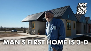 Homeless man becomes first person to live in 3D-printed house | New York Post