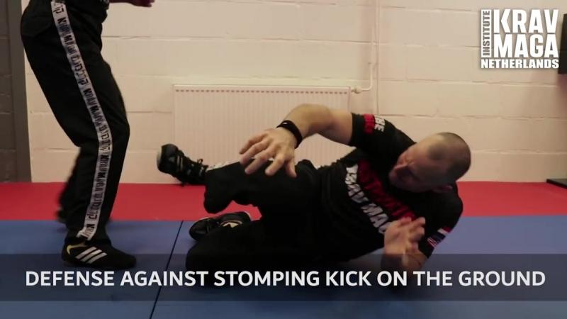 Krav Maga Technique of the Week Defense against Stomping Kick on the Ground with Heath Leavitt
