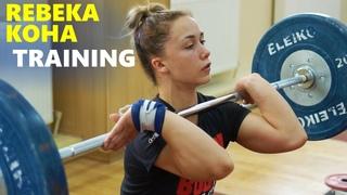 REBEKKA KOHA - Olympic Weightlifting Training / Road to Tokyo 2020