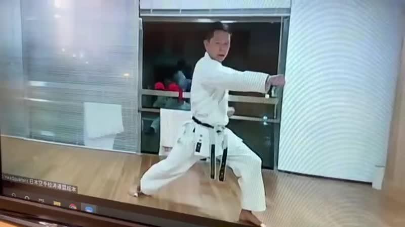 каратэ сётокан тренировка сэнсэя Такуя Макита 5 Дан JKS из Японии 29 08 20