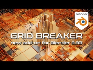 Grid Breaker - new add-on for Blender . Free pre-alpha.