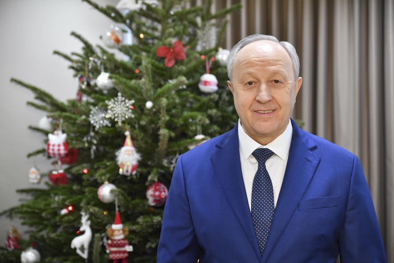 Поздравление от губернатора Валерия Радаева с Новым годом