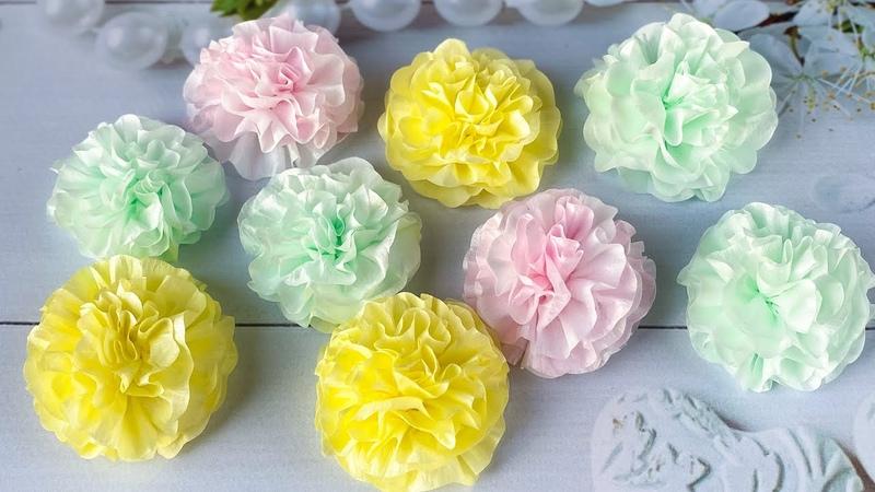 Цветы Помпоны из Фоамирана Резиночки Украшения из фоамирана Повязка DIY Foam sheet craft Foam flower