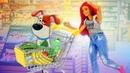 Видео про Барби и игрушки Тайная жизнь домашних животных - Кошка Хлоя в супермаркете!