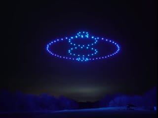 При помощи 100 дронов, создали потрясающее световое шоу