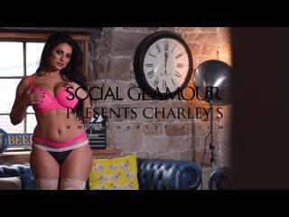 Charley s pink bras and black panties